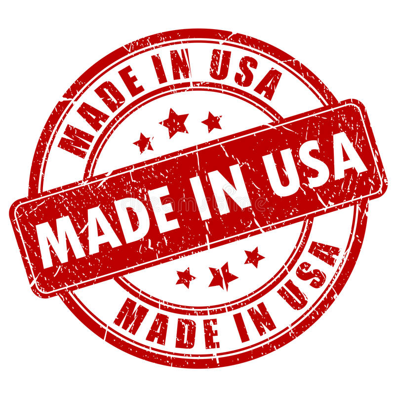 Fait dans le timbre des Etats-Unis illustration stock
