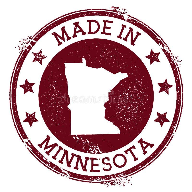 Fait dans le timbre du Minnesota illustration stock
