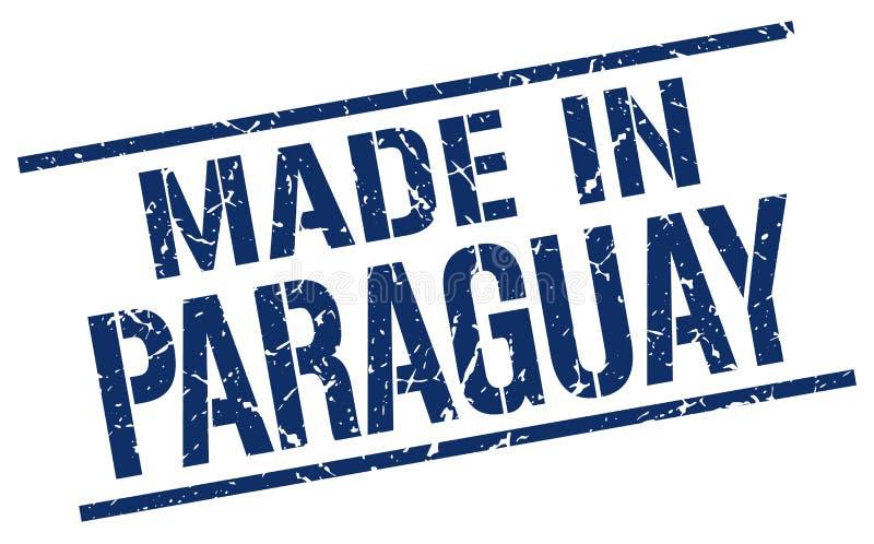 Fait dans le timbre du Paraguay illustration libre de droits