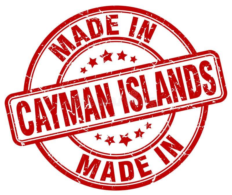 fait dans le timbre grunge rouge des Îles Caïman illustration de vecteur