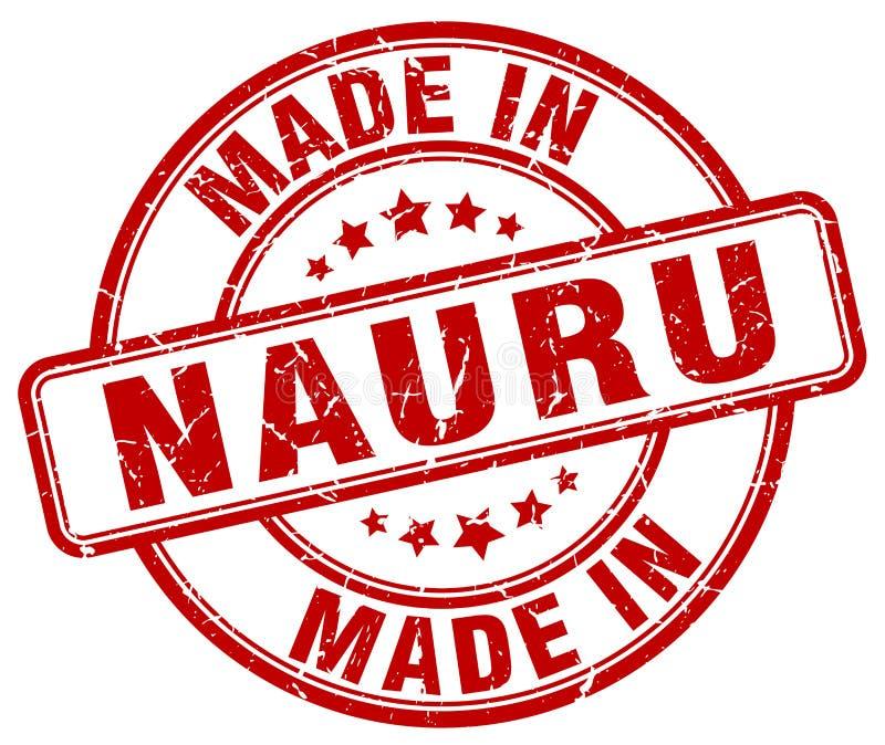 fait dans le timbre grunge rouge du Nauru illustration libre de droits