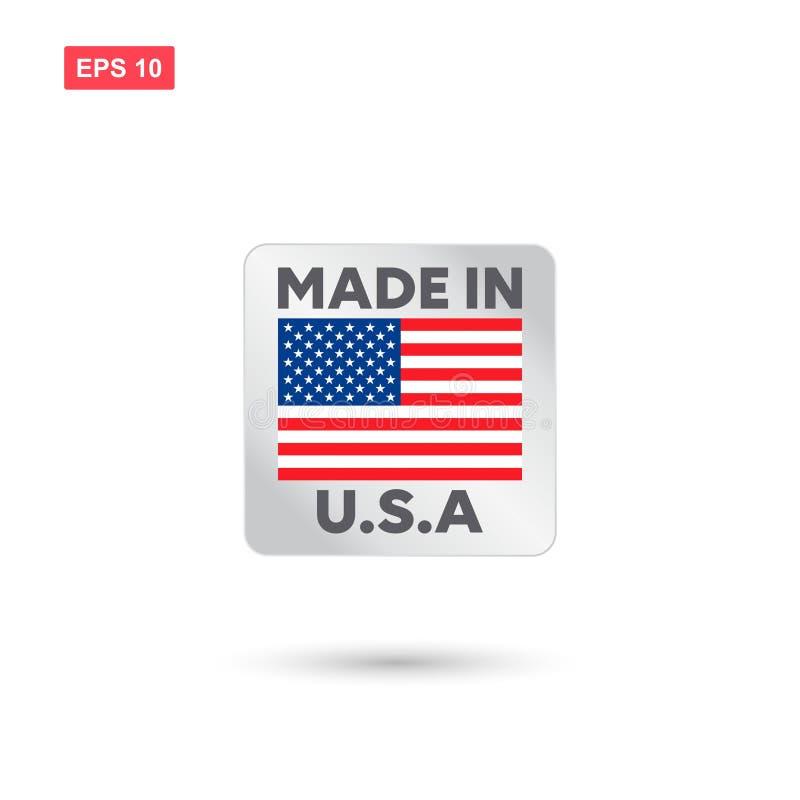 Fait dans le vecteur des Etats-Unis illustration libre de droits