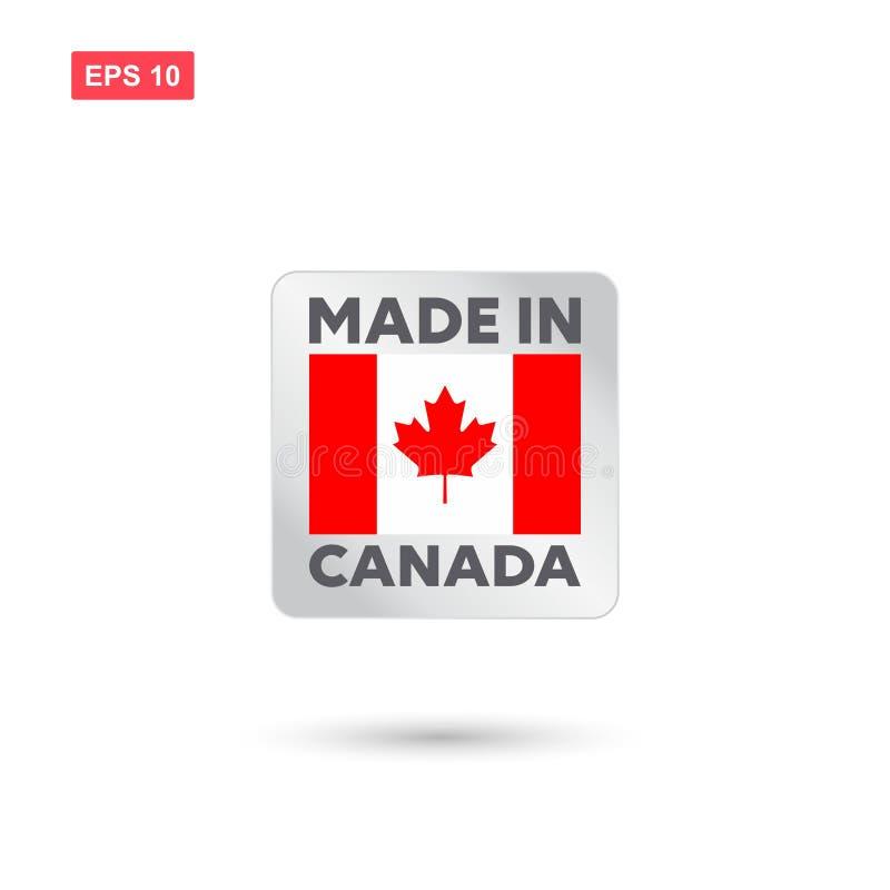 Fait dans le vecteur du Canada illustration de vecteur