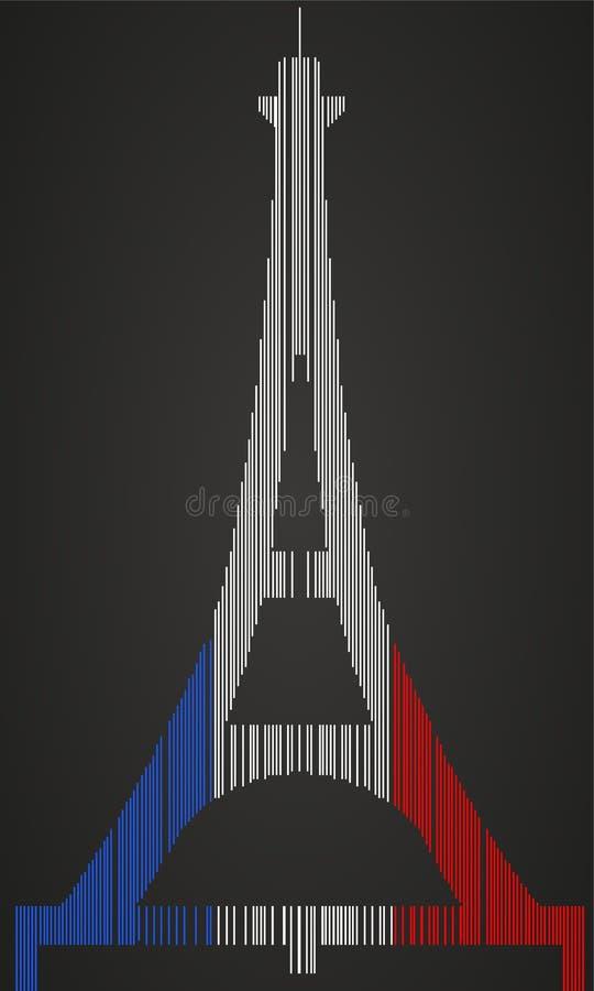 Fait dans les Frances - code barres de tour d'Effeil illustration libre de droits