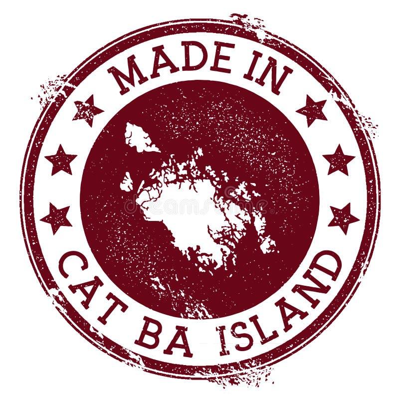 Fait en timbre de Cat Ba Island illustration de vecteur