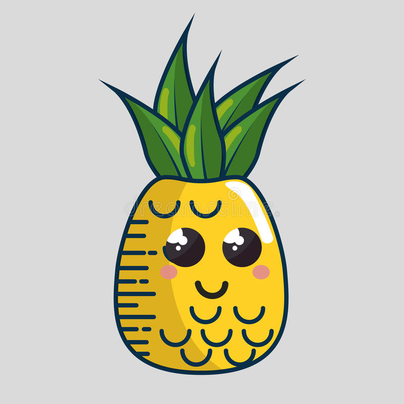 Download Fait Main De Caractère De Fruit Frais D'ananas Dessiné Illustration de Vecteur - Illustration du ligne, modèle: 87702526