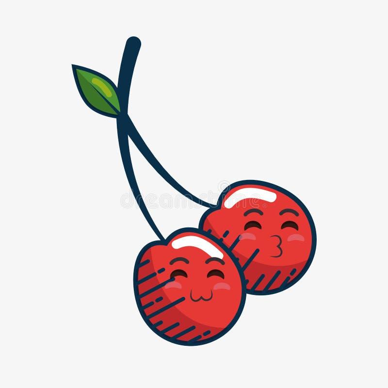 Download Fait Main De Caractère De Fruit Frais De Cerise Dessiné Illustration de Vecteur - Illustration du fruit, frais: 87702556