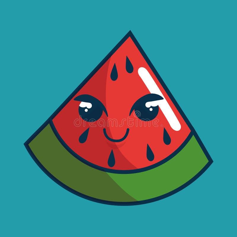 Download Fait Main De Caractère De Fruit Frais De Pastèque Dessiné Illustration de Vecteur - Illustration du décoration, cartoon: 87702540