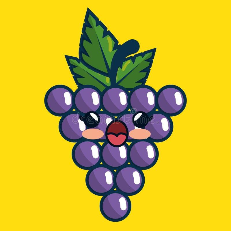 Download Fait Main De Caractère De Fruit Frais De Raisins Dessiné Illustration de Vecteur - Illustration du croquis, retrait: 87702548