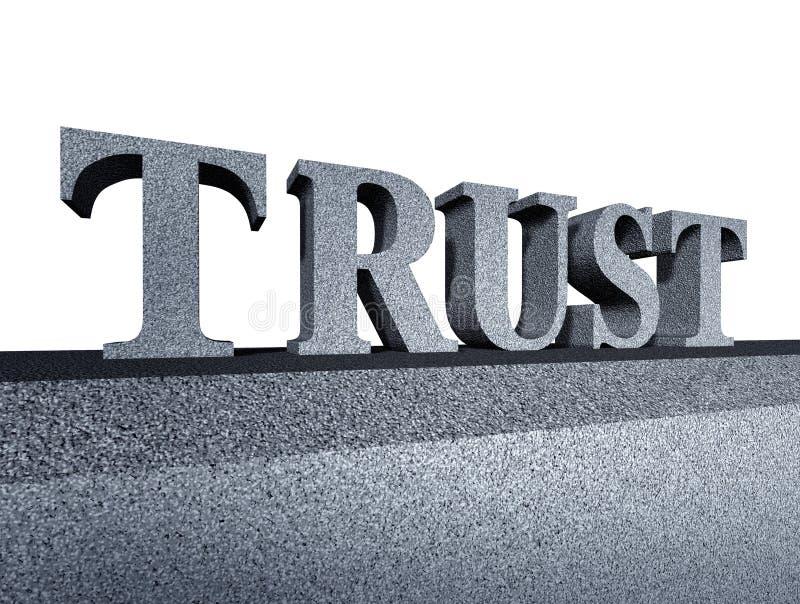Faites confiance à l'intégrité financière de symbole d'affaires d'honneur illustration de vecteur