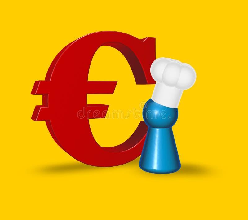 Faites cuire le symbole symbolique et euro illustration libre de droits
