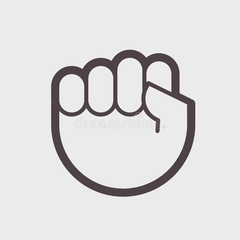 Faites des gestes la main serrée dans un symbole du poing A de lutte ou de résistance illustration libre de droits