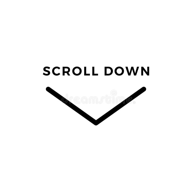 Faites descendre l'écran l'icône Sybmol de défilement de vecteur pour le web design illustration de vecteur