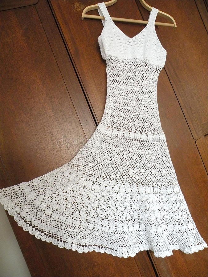 Faites du crochet la robe image stock