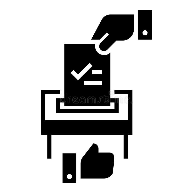 Faites l'icône bien choisie politique, style simple illustration libre de droits