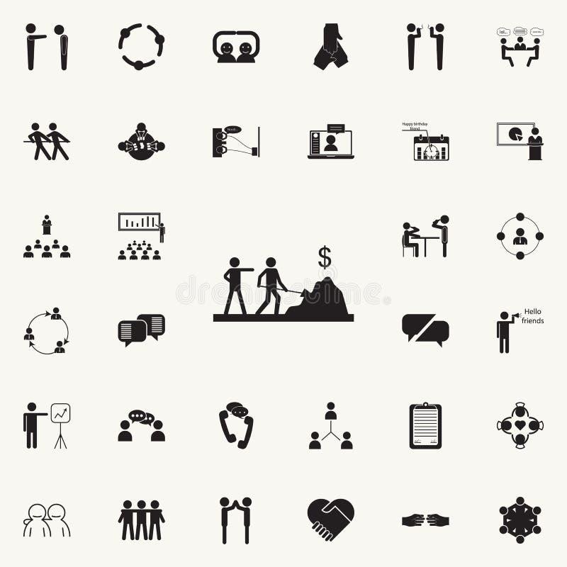 faites l'icône de travail Ensemble détaillé d'icônes de conversation et d'amitié Signe de la meilleure qualité de conception grap illustration stock