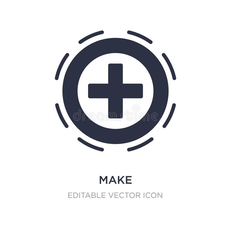 faites l'icône sur le fond blanc Illustration simple d'élément de concept d'UI illustration libre de droits