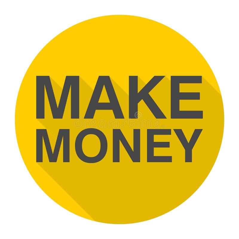 Faites l'icône d'argent avec la longue ombre illustration libre de droits
