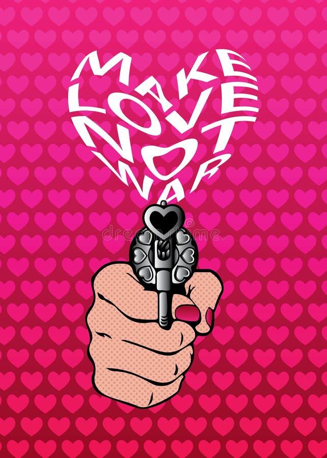 Download Faites La Carte De Voeux De Slogan De Guerre D'amour Pas Ou La Copie De T-shirt Illustration Stock - Illustration du mode, paix: 77163054