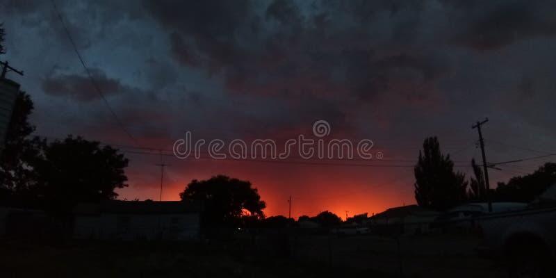 Faites la manche le coucher du soleil photos stock