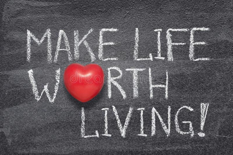 Faites la vie en valeur le coeur photographie stock libre de droits