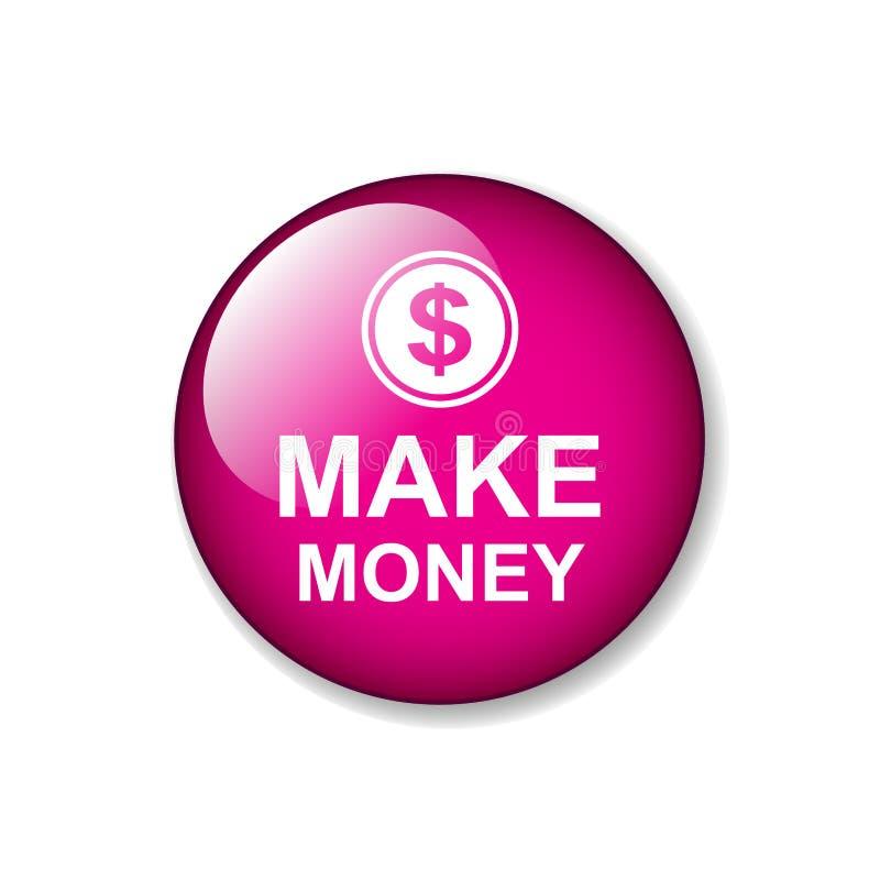 Faites le bouton de Web d'argent illustration libre de droits