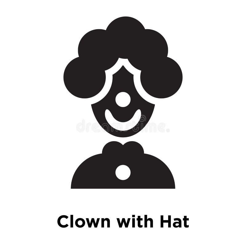 Faites le clown avec le vecteur d'icône de chapeau d'isolement sur le fond blanc, le logo Co illustration stock