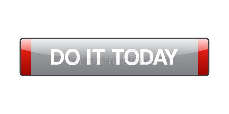 Faites-le se boutonnent aujourd'hui illustration libre de droits