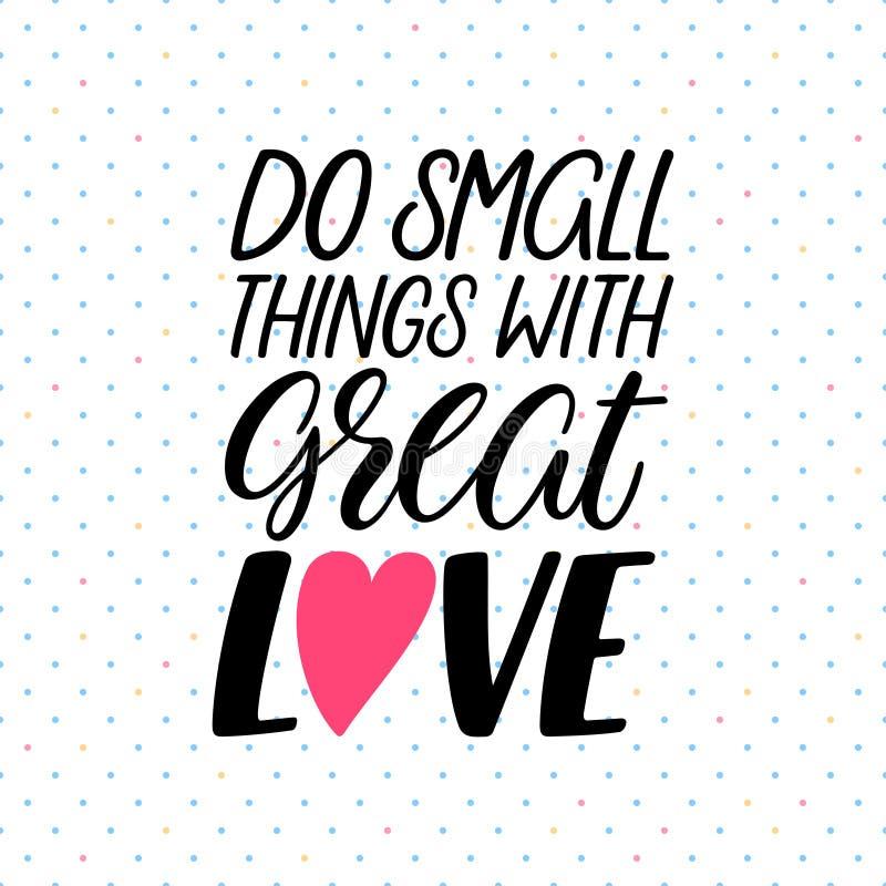 Faites les choses avec amour illustration stock