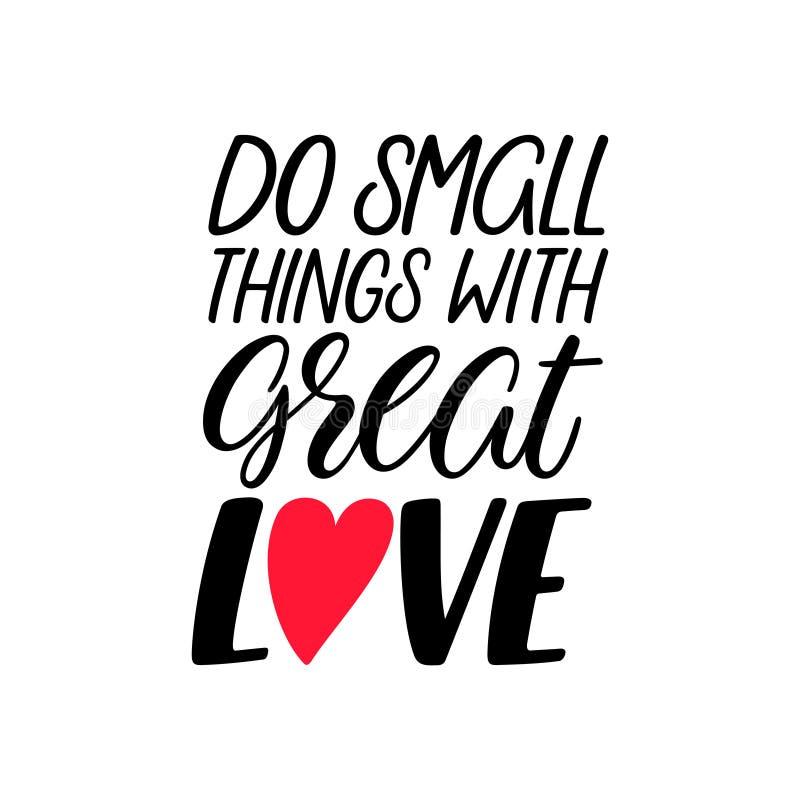 Faites les choses avec amour illustration libre de droits