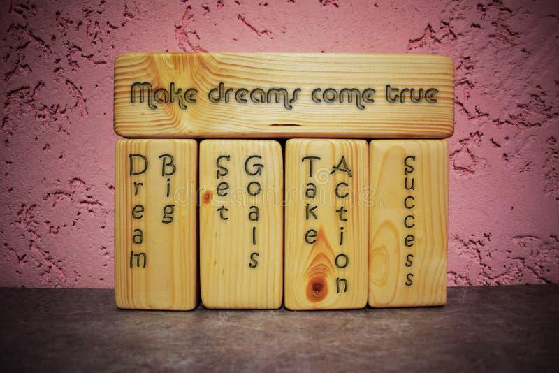 Faites les rêves venir vrai - concept photos libres de droits
