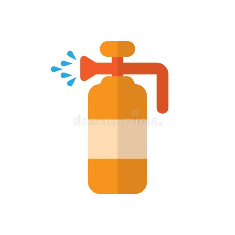 Faites pression sur l'icône plate de pulvérisateur, signe rempli de vecteur, pictogramme coloré d'isolement sur le blanc illustration libre de droits