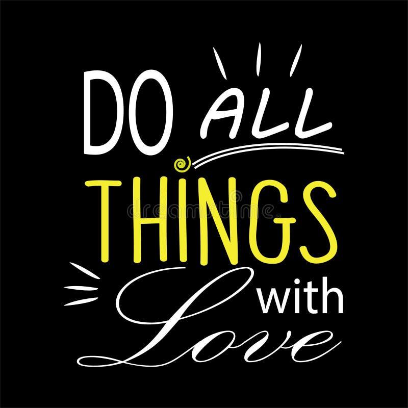Faites tout les choses avec amour D?coration de mur illustration libre de droits