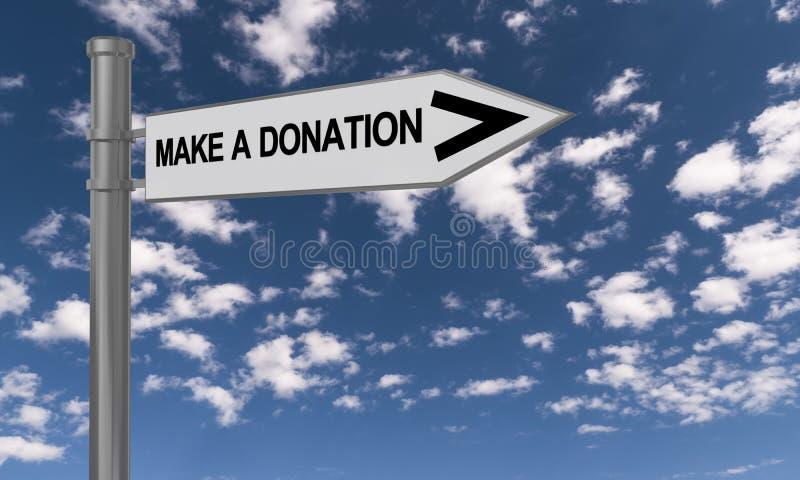 Faites un signe de donation illustration libre de droits