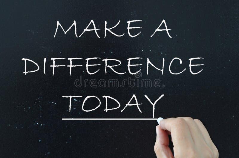 Faites une différence images libres de droits