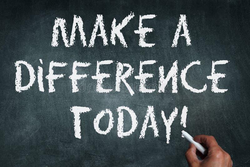 Faites une différence image libre de droits