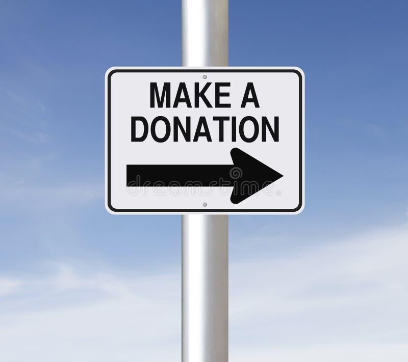 Faites une donation images stock