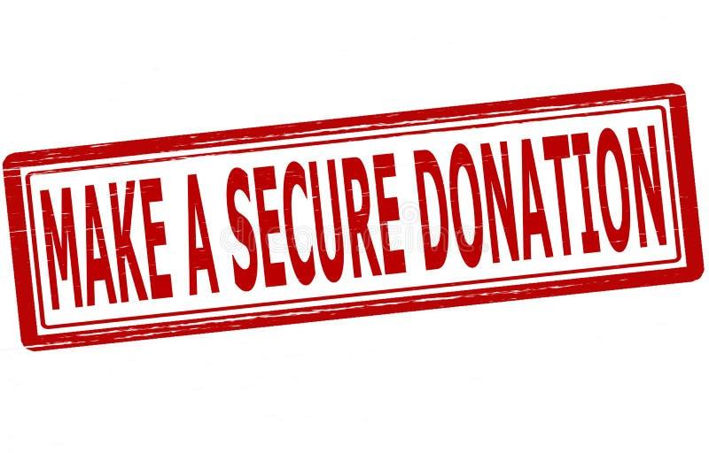 Faites une donation sûre illustration libre de droits