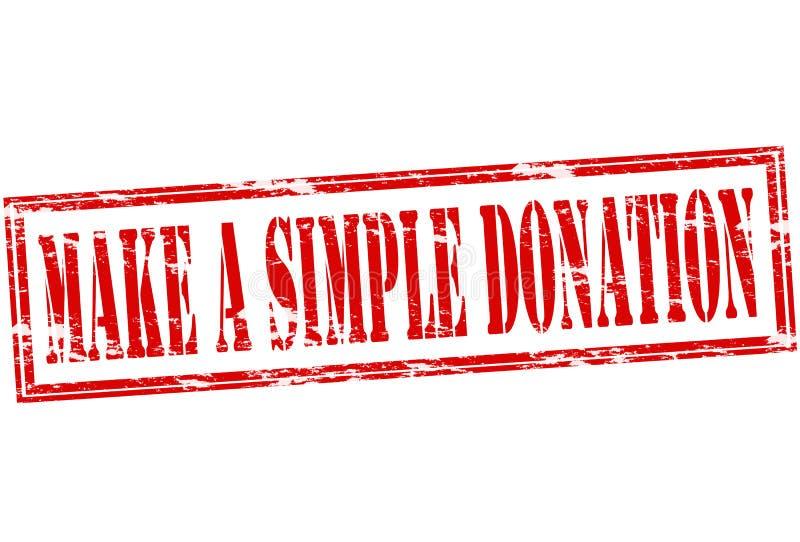 Faites une donation simple illustration de vecteur