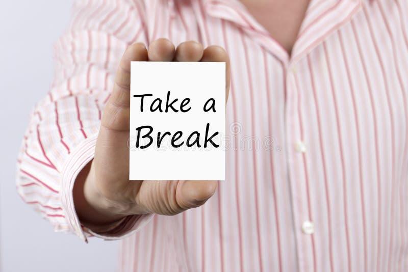 Faites une pause écrite sur la carte image libre de droits