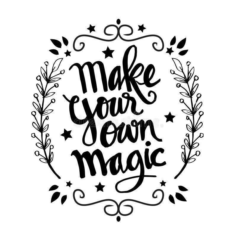 Faites vos propres citations magiques illustration libre de droits