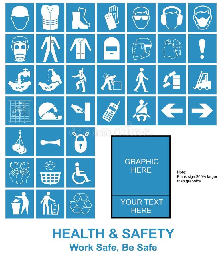 Faites vos propres signes de santé et sécurité illustration de vecteur