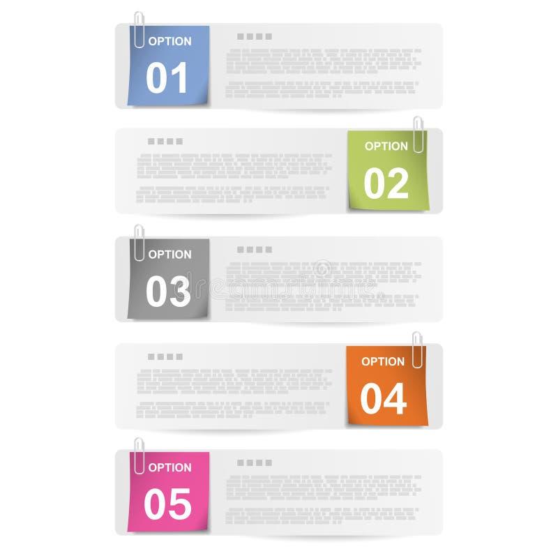 Faites Votre Choix - Notes De Papier Agrafées Photos stock