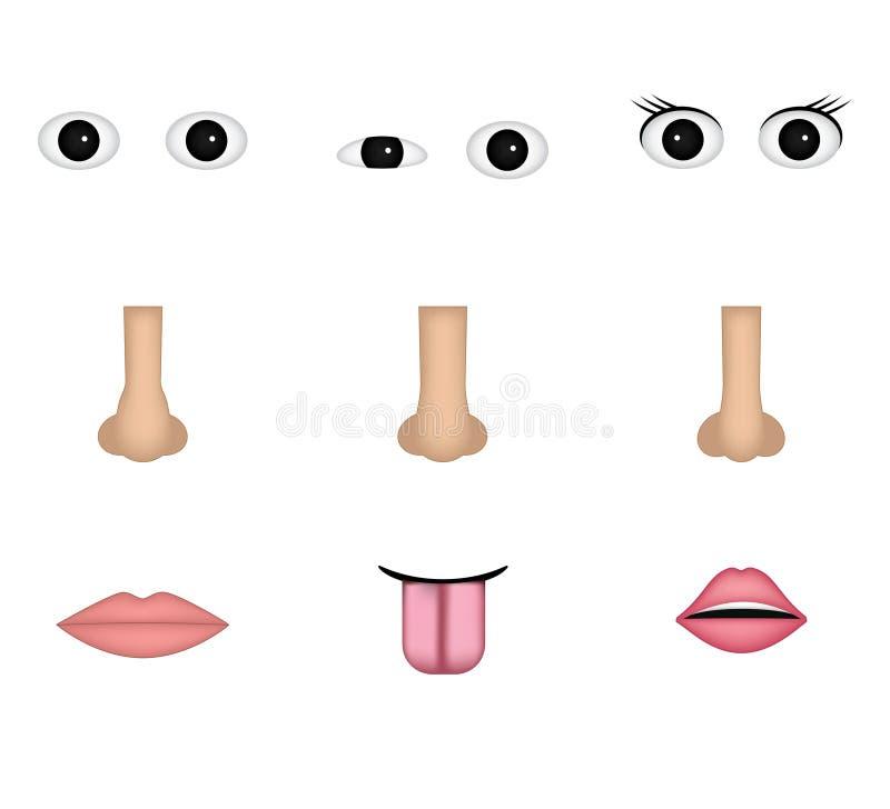 Faites votre emoji illustration stock