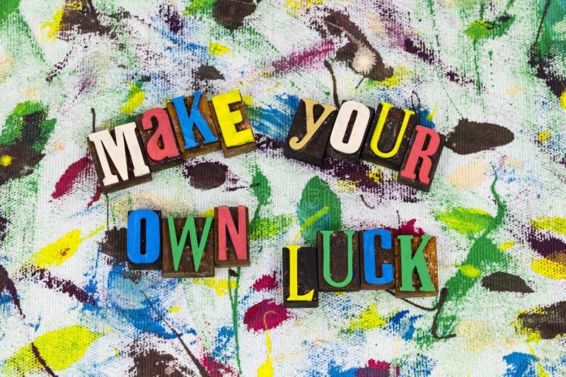 Faites votre propre avenir de chance photographie stock libre de droits