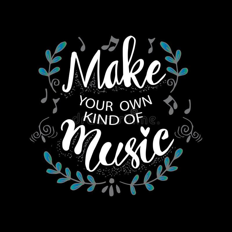 Faites votre propre sorte de la musique illustration libre de droits