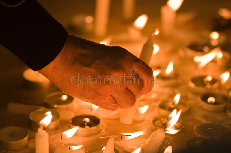 Download Faith stock photo. Image of worship, candle, hold, pray - 18079372