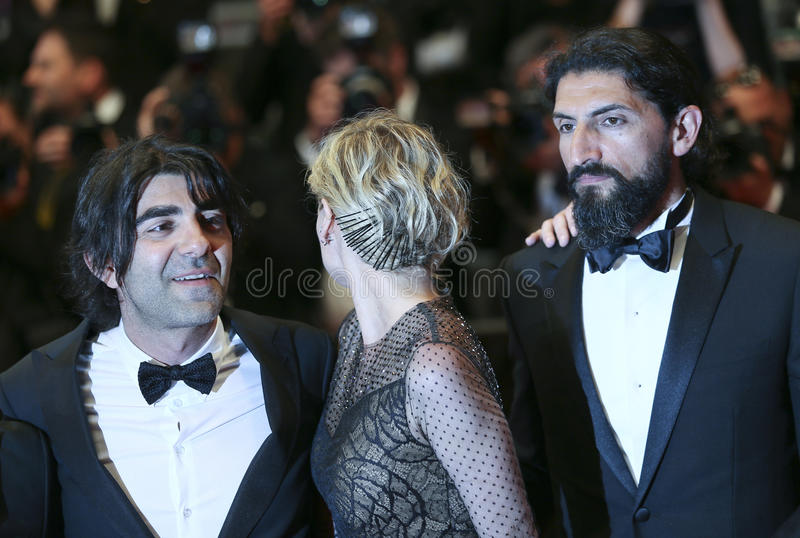 Faith Akin, Diane Kruger, Numan Acar. Attend the `In The Fade Aus Dem Nichts` premiere during the 70th Cannes Film Festival at Palais on May 26, 2017 in Cannes stock photos