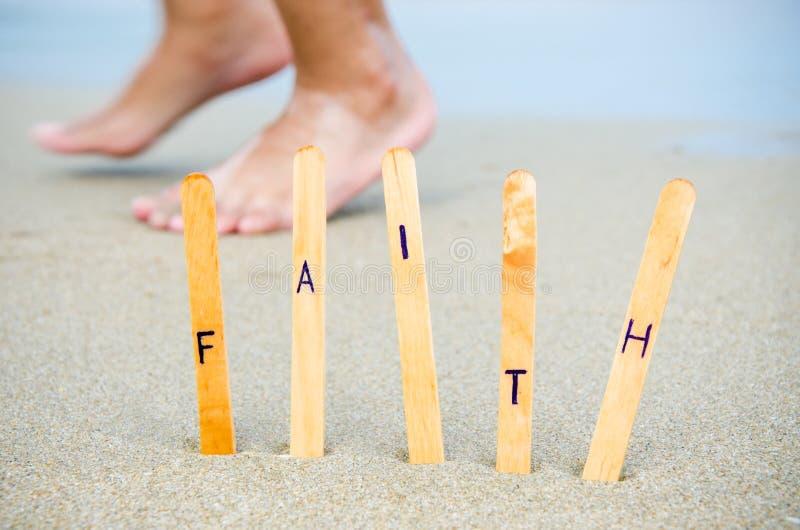 Faith in the beach.