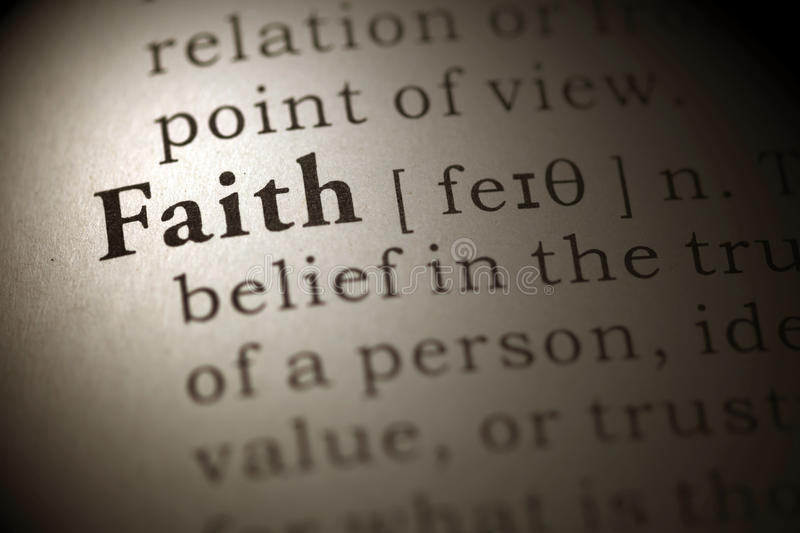 Faith stock photo